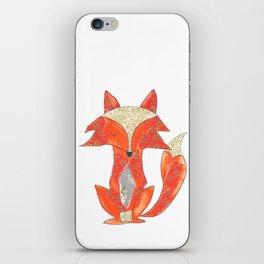 Orange Zen Fox iPhone Skin