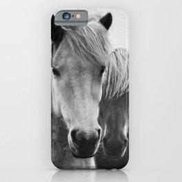 Horses - Black & White 7 iPhone Case