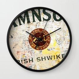 Vintage Scrambled Whiskey Wall Clock