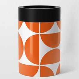 Mid Century Modern Geometric 04 Orange Can Cooler