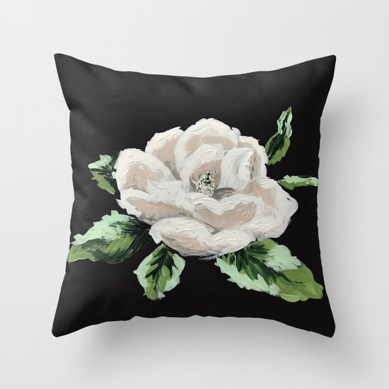 Magnolia Throw Pillow by Holli Huyser Society6