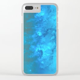 Blue Universe Clear iPhone Case