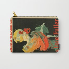 Belle Epoque vintage poster, Folies Bergere, La Loie Fuller Carry-All Pouch