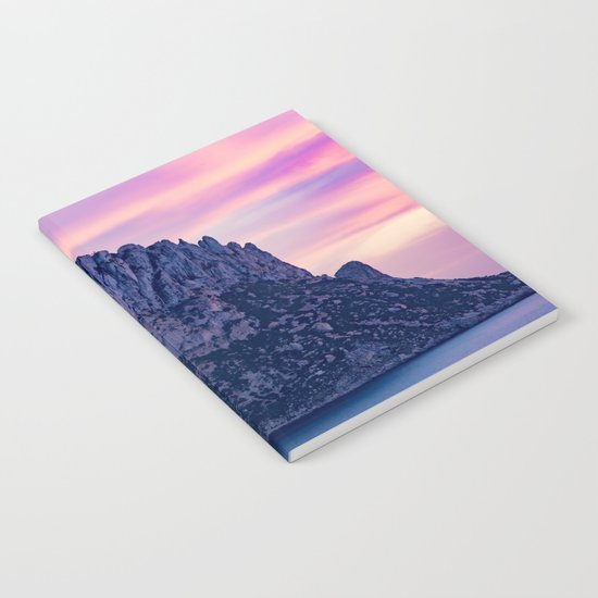 Es Vedra Surrounded With Pink Fluffy Clouds Notebook
