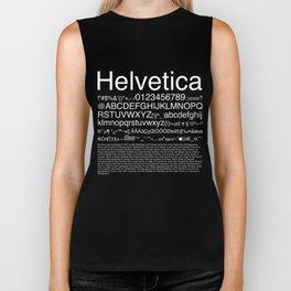 Helvetica (White) Biker Tank