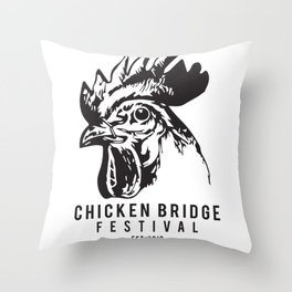 Chicken Bridge Festival, 2018 Throw Pillow