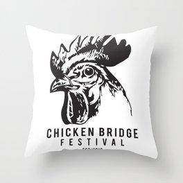 Chicken Bridge Festival, 2018 Throw Pillow
