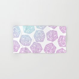 d20 pattern dice gradient pastel Hand & Bath Towel