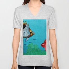 Butterfly & Bigeye fishes Unisex V-Neck