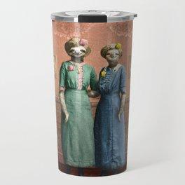 The Sloth Sisters at Home Travel Mug