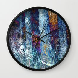 The Secret Lives of Trees IV Wall Clock