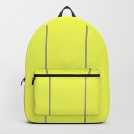 Yellow & Grey Striped pattern Backpack