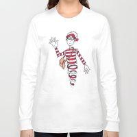 waldo Long Sleeve T-shirts featuring Waldo by Lady Catton