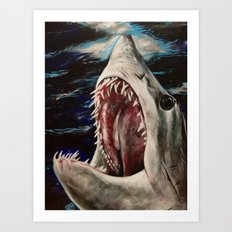 Mako Shark of Dark Waters Art Print