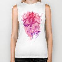 hibiscus Biker Tanks featuring Hibiscus by Magenda