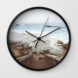 Step into the water LaJolla Cove San Diego Wall Clock