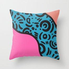 Memphis milano blue pink Throw Pillow