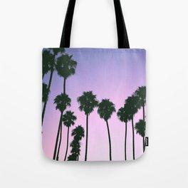 Palm Tree Purple Sunset Tote Bag