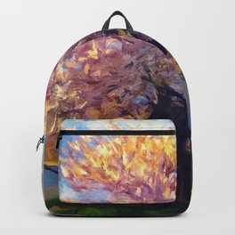 Blooming Tree Impressionist Painting Backpack