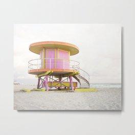 Miami Beach Photography Metal Print