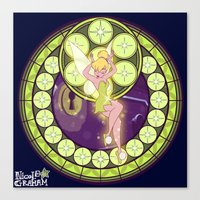 tinker bell Canvas Prints featuring Tinker Bell by NicoleGrahamART
