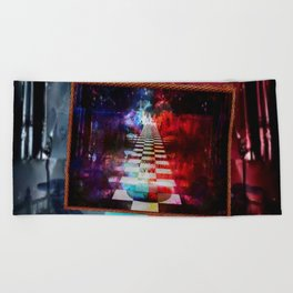 """""""The Choice:Red or Blue"""" by surrealpete Beach Towel"""