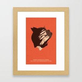 The Dark Knight Rises Framed Art Print