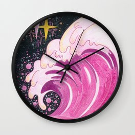 A wave of unconditional love Wall Clock