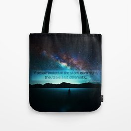 Live Differently Tote Bag