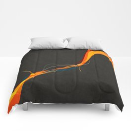 Frayed Abstract Comforters