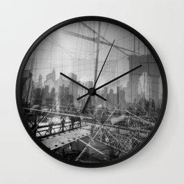 Brooklyn Bridge 3x Wall Clock