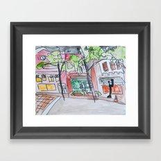 downtown wilmington Framed Art Print