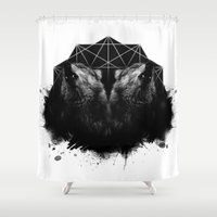 howl Shower Curtains featuring Kindred Howl by Shannon Toohey