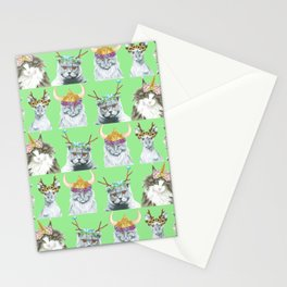 KITTY CATS 4 Stationery Cards