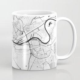 Frankfurt City Map Gray Coffee Mug