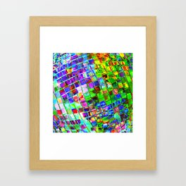 Psychedelic Planet Disco Ball Framed Art Print