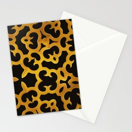 Vintage Curly Window Screen (Old Gold) Stationery Cards