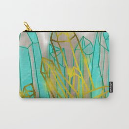 Crystals - Cyan Carry-All Pouch