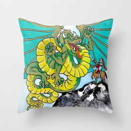 final fight (square) Throw Pillow
