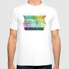 TOTALLY NEW CONCEPT MEDIUM Mens Fitted Tee White