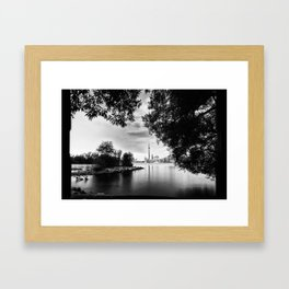 Toronto Black and White Framed Art Print