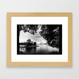 Toronto Black and White Framed Art Print