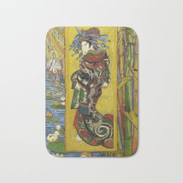 "Vincent van Gogh ""The Courtesan (after Eisen)"" Bath Mat"