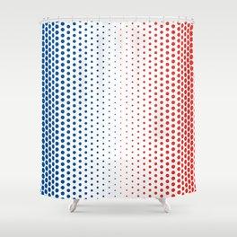 Bleu Blanc Rouge-Wide - Living Hell Shower Curtain