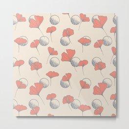 Delicate Ginkgo&Dots #society6 #decor #buyart Metal Print