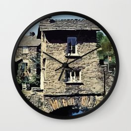 Old Bridge House Ambleside Cumbria England Wall Clock