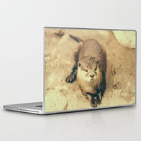otter Laptop & iPad Skins featuring Cute Otter by Pati Designs & Photography