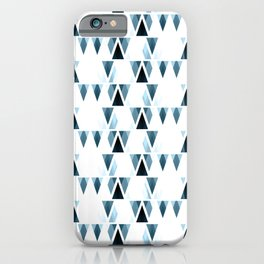 Icicles, abstract crystal pieces in light blue, geometric design in winter theme iPhone Case