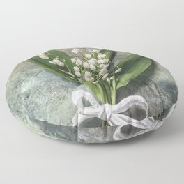 Beautiful Lily Of The Valley Floor Pillow