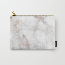 Rose Gold Marble Blush Pink Metallic Foil Carry-All Pouch